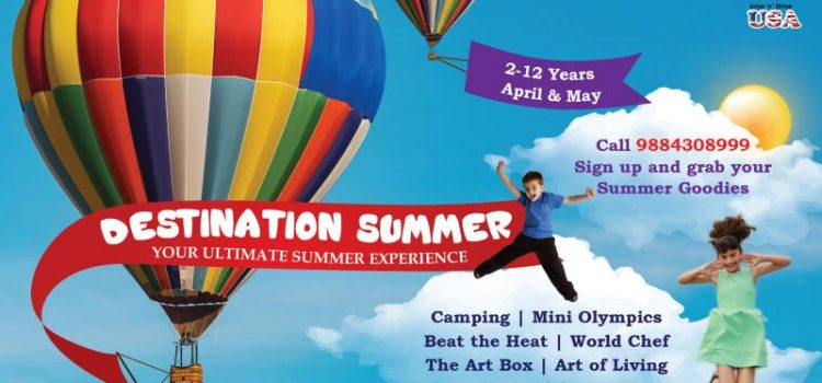 Arise 'n' Shine Proudly present its Summer Camp – Summer Destination