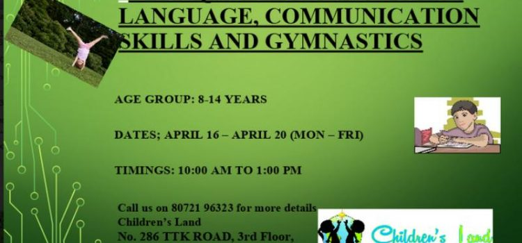 A unique combination of language, communication skills and gymnastics for 8 to 14 years