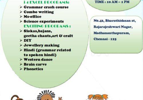 Summer Camp @ BambooShoots Activity Center, Madhanandapuram