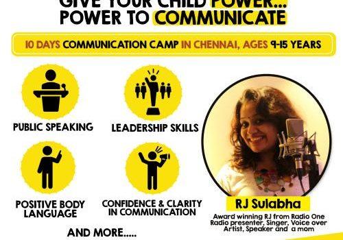 Summer Communication Camp with RJ Sulabha @ I Love Mondays, Mylapore