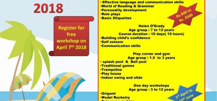 Swajas Activity Centre Summer Camp 2018