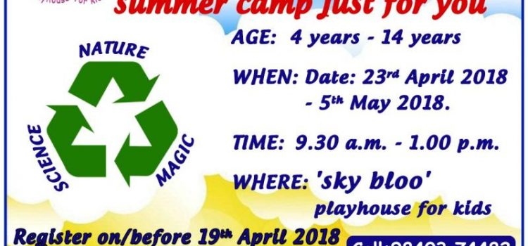 Sky Bloo Summer Camp for Kids from April 23, 2018