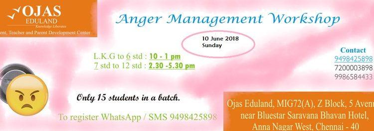 Anger Management Workshop on 10 June 2018