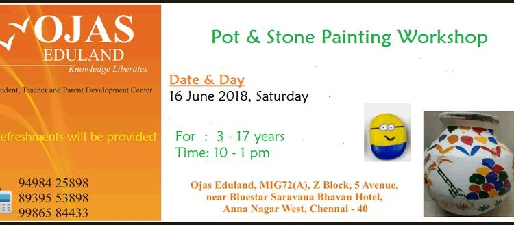 Pot & Stone Painting Workshop on 16 June 2018