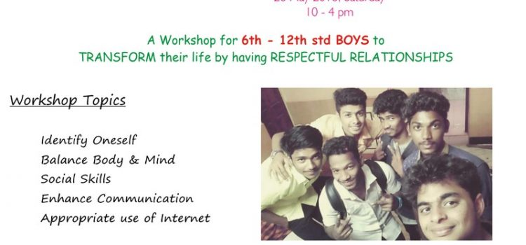 "Ojas Eduland One Day Workshop for ""TEENAGE BOYS"""