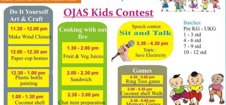Kid's competition on 27 May 2018, Sunday at Ojas Eduland
