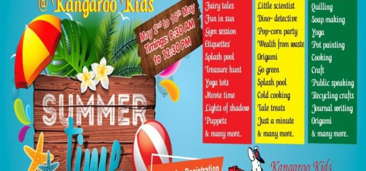 Summer Extravaganza 2018 at Kangaroo Kids Anna Nagar