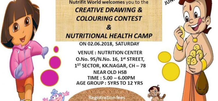 Creative Drawing & Colouring Contest and Nutritional Health Camp on 2nd June, 2018