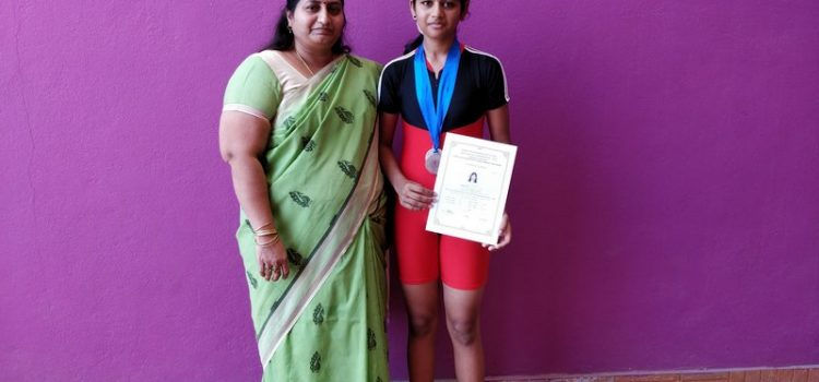 Talented  Harsha. C of Vedanta Academy wins 2 Silver Medals