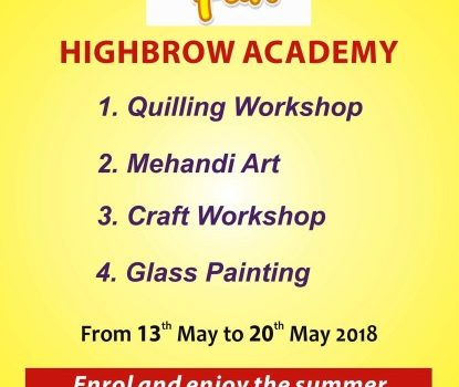 HIGHBROW ACADEMY SUMMER FUN CAMP 2018