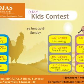 24 June 2018 Kids Contest @ Ojas Eduland