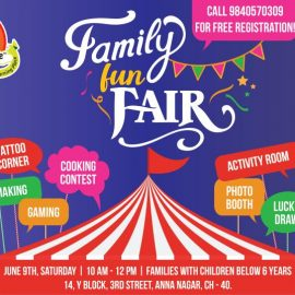 Family Fun Fair at Anna Nagar on June 9, 2018