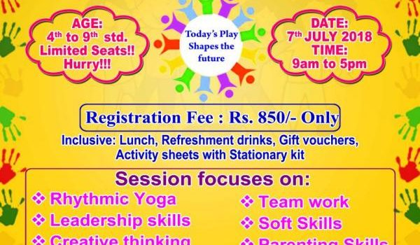 Holistic Workshop for Kids on 7th July 2018