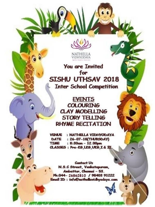 SISHU UTSAV INTER SCHOOL COMPETITION – 2018 – Kids Contests