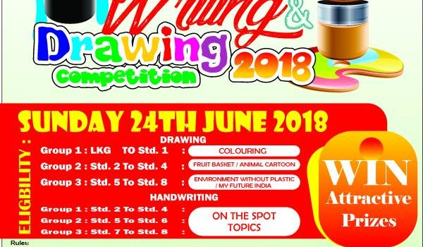 Writing And Drawing Competition On 24th June 2018