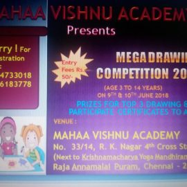 Mahaa Vishnu Acadaemy Presents MEGA DRAWING COMPETITION 2018