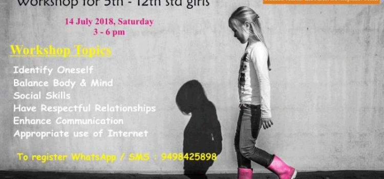 """BEHAVIOURS Do Matter Workshop for Girls"" on July 14"
