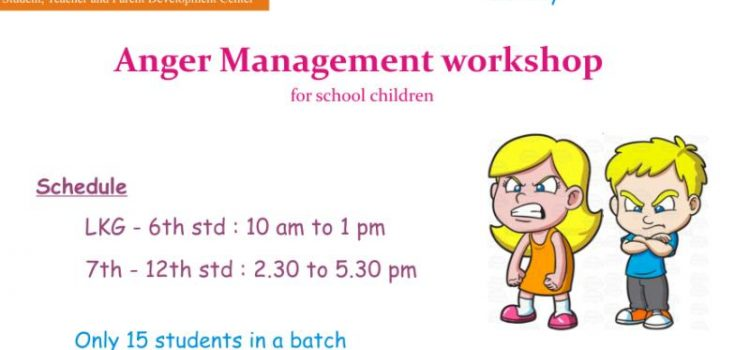 Anger Management Workshop 15 JULY 2018
