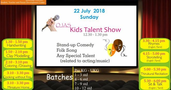 Ojas Eduland Kids Contest and Talent Show