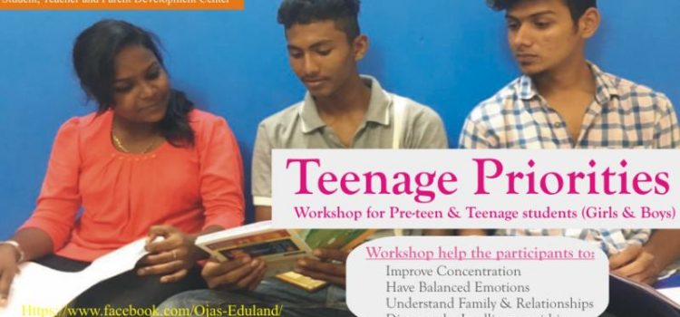 Workshop on 28 July 2018 : Teenage Priorities