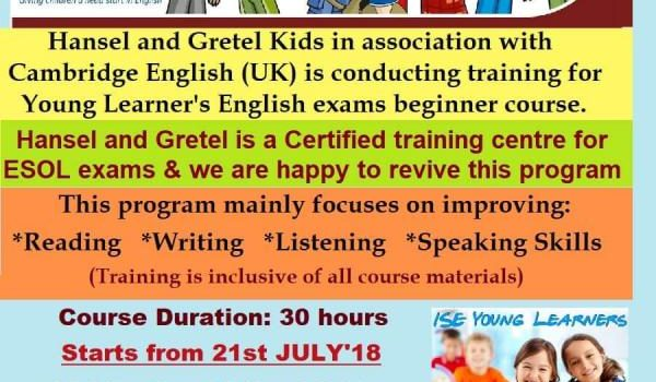 Young learner's Cambridge English program for kids at Hansel and Gretel