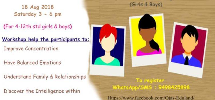 Teenage Priorities Workshop on 18 August 2018