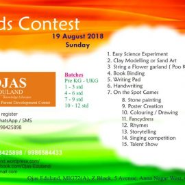 Ojas Eduland Kid's Competitionon19th August 2018, Sunday