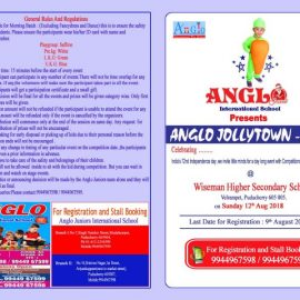 ANGLO JOLLYTOWN-2018 Competitions at Pondicherry