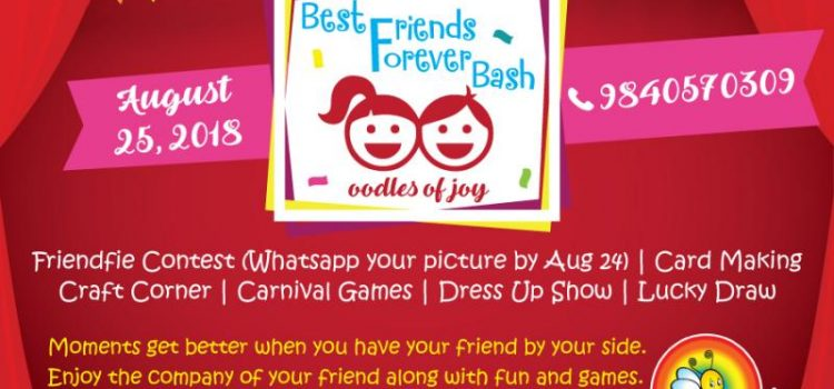 Best Friends Forever Bash on Saturday, August 25th, 2018