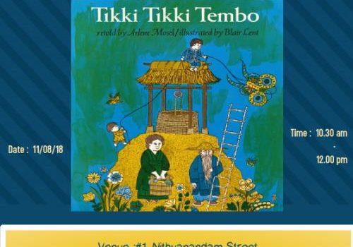 STORY : TIKKI TIKKI TEMBO – A CHINESE FOLKTALE on 11.08.18