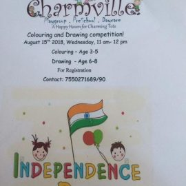 Charmville Preschool Drawing & Colouring Competition on Aug 15, 2018