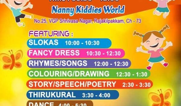 Madras Day Children Event in Rajakilpakkam on 25th Aug 2018
