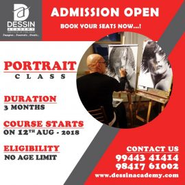 Dessin Academy Portrait Classes from Aug 12, 2018