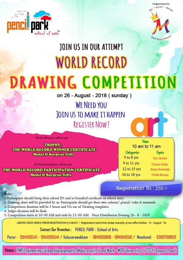 Pencil Park Drawing Competition at Maduravoyal, Chennai on ...