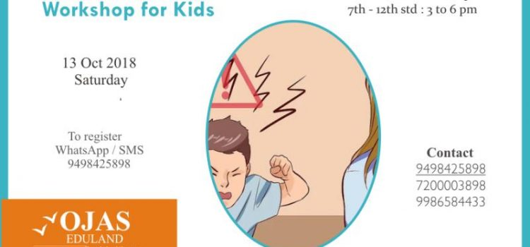 Anger Management Workshop on 13 Oct 2018, Saturday