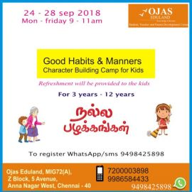 Holidays Camp : Good Habits & Manners Character Building Camp for School Kids