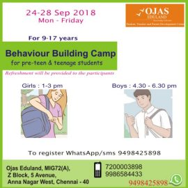 Holidays Camp : Behaviour Building Camp for Pre-teen and Teenagers