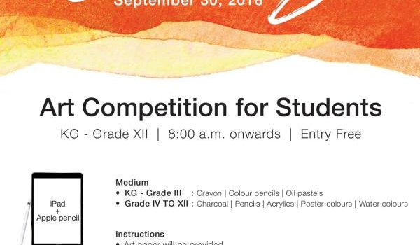CANVAS – 2018 – Painting Competition for Students between KG – Gr.XII