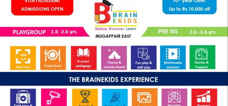 Vijayadasami Playschool Admissions at Brainekids
