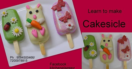 Baking class on Cakesicles for ladies