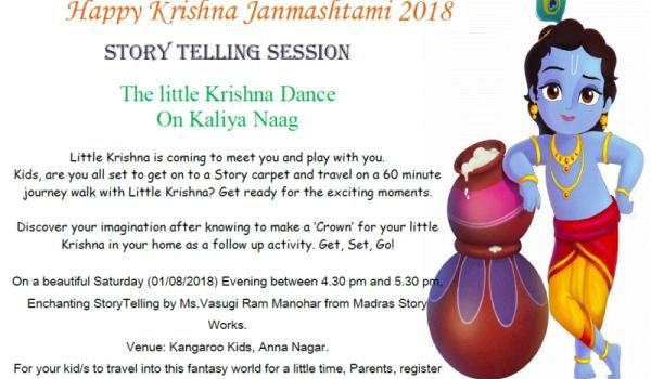 Krishna Janmashtami Story Telling session on Sep 1, 2018
