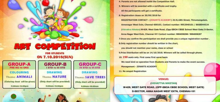Zenarts Academy Conducting Drawing Competition 2018