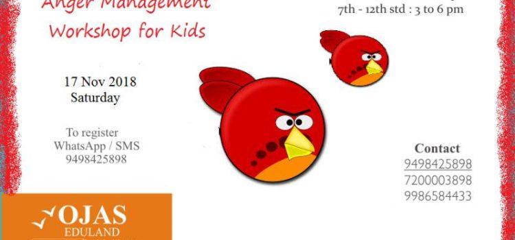 Anger Management Workshop for kids on 17 Nov 2018, Saturday