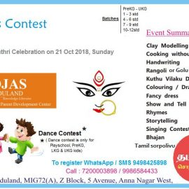 OJAS Eduland conducts Kid's Competitionon21st Oct 2018