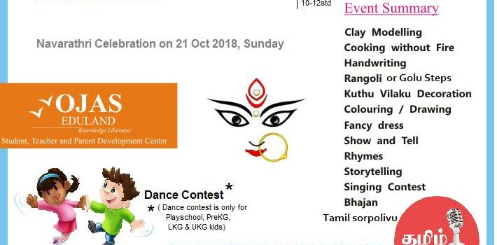 OJAS Eduland conducts Kid's Competition on 21st Oct 2018