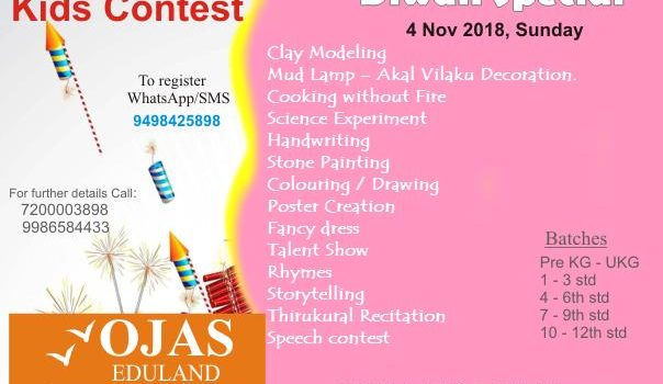 OJAS Eduland conducts Kids' Contest on 4 Nov 2018, Sunday