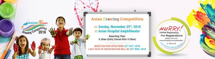 Asian Drawing Competition 2018 at Faridabad on November 25