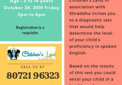 Children's Land Diagnostics Test in Spoken English