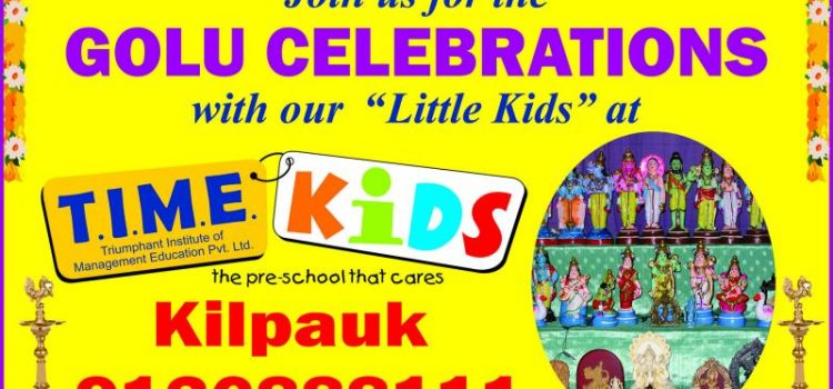 Golu Celebrations at TIME Kids Preschool, Kilpauk