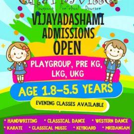 Charmville Preschool VIJAYADASHAMI ADMISSIONS OPEN FOR 2018